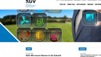 Screenshot KGV-Website Desktop